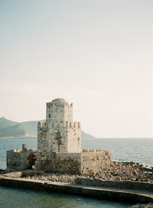 Ancient greek castle elopement