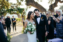 Elegant black and white wedding at Sunstone Winery