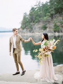 Serene modern Galiano Island wedding inspiration