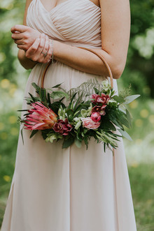 hoop bridesmaid bouquet