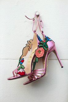 floral Gucci wedding shoes