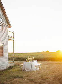 Golden hour late summer farmhouse wedding inspiration