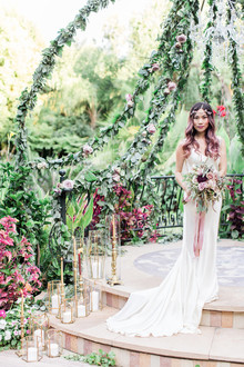Jewel Tone garden wedding editorial at Eden Gardens