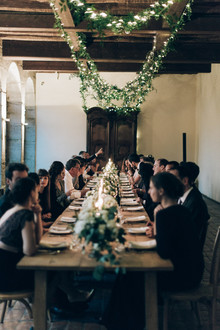 Intimate winter wedding at Chateau de Montplaisant in France