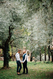 Winter same sex elopement in Veneto Italy
