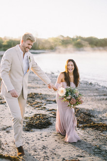 Maine engagement photos at Kettle Cove on Cape Elizabeth