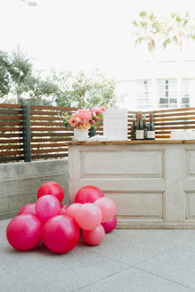 Ombre pink birthday party