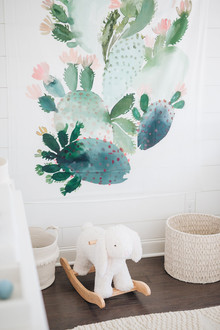 watercolor cactus wall hanging