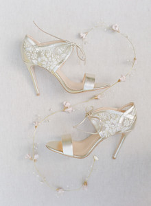 metallic bridal shoes