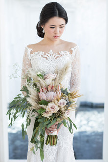 Elegant floral destination wedding in Bali
