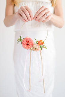 DIY flower girl wreath hoop