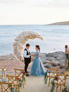Pampas grass moon ceremony decor