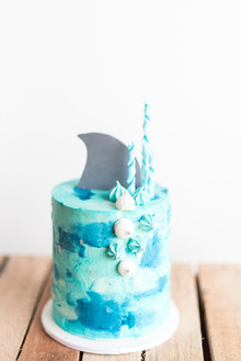 Beach-themed birthday party for a brother and sister