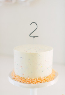 Orange and white modern 2nd birthday