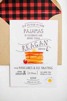 Pancake birthday party invite