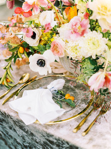 Glam spring garden wedding ideas