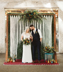 Macrame wedding backdrop