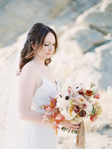 Romantic earth tone Palm Springs wedding by Amorology