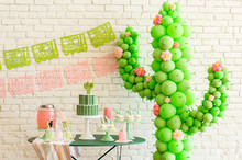 Cactus themed cinco de mayo party on 100 Layer Cakelet