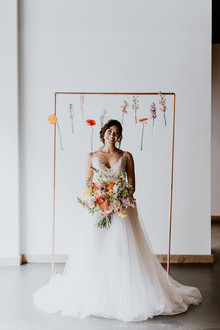 Floral spring indoor wedding ideas at Ajax DC
