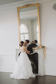 Intimate minimal pastel wedding at The Great Hall in Toronto