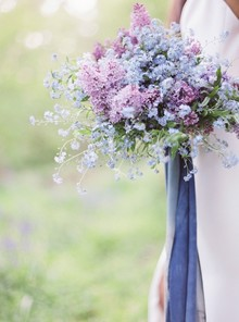 Forget me knot bridal bouquet