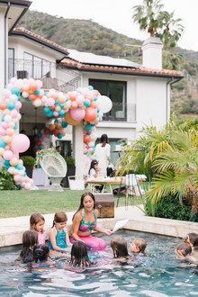 Mermaid backyard birthday party by Beijos Events