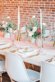 Geometric brass + blush wedding inspiration at Franciscan Gardens