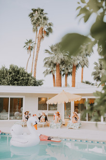 Tropical bachelorette party ideas in Palm Springs