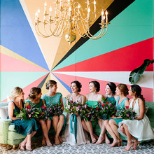 Colorful wedding at The Cheney Place in Grand Rapids