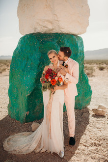 True Romance inspired Las Vegas elopement at Seven Magic Mountains