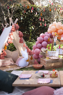 Earth tone llama themed first birthday party