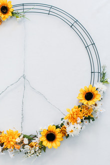 Faux flower wreath