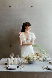 Modern french tropical wedding ideas with dried flowers