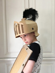 Cardboard Costume for Halloween