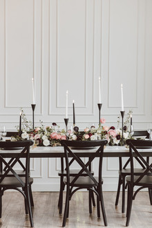 Modern luxe pink and black wedding at co. 251 in Chicago