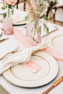 Pink floral backyard baby shower
