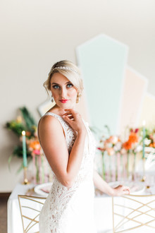 Modern art deco bridal look