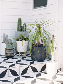 Tile patio