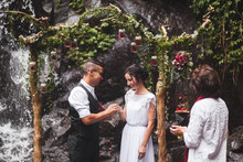 How to elope in Bali under a waterfall