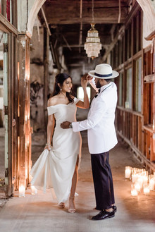 Packard Plant in Detroit wedding editorial