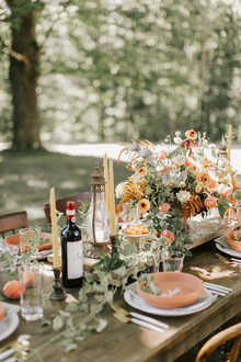 Terracotta and peach table ideas