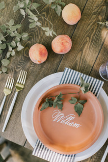 Terracotta place settings