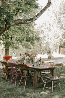 Late summer dining al fresco