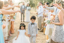 Intimate vow renewal with the couple's children in Portugal
