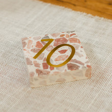 terrazzo table numbers