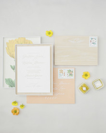 pastel spring wedding invitations