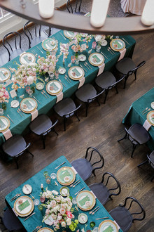 emerald green wedding tables