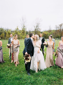 Amazing winter wedding fashion and bridal party style