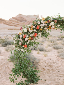 Floral wedding arch in the desert